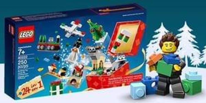 FREE LEGO 24-in-1 Christmas Builds set with any purchase over £60!