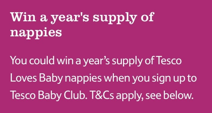 Win a Years Supply of Nappies