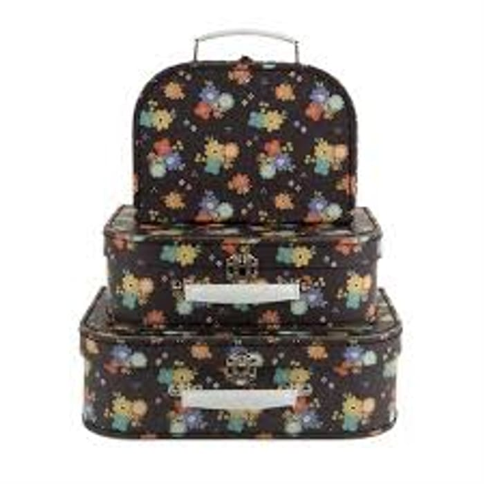 Set of 3 Dahlia Floral Small Storage Suitcases Reduced from £23 to £8.50!