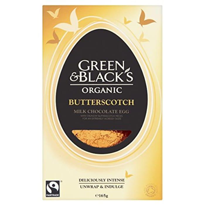 Green & Black's Organic Butterscotch Easter Egg 165 G (Pack of 4)