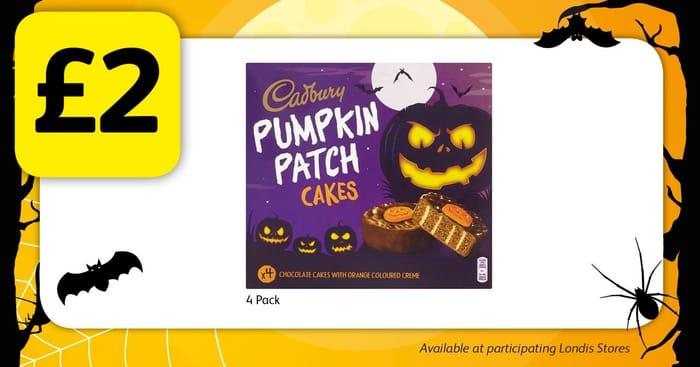 Cadbury Pumpkin Patch Cakes for £2!