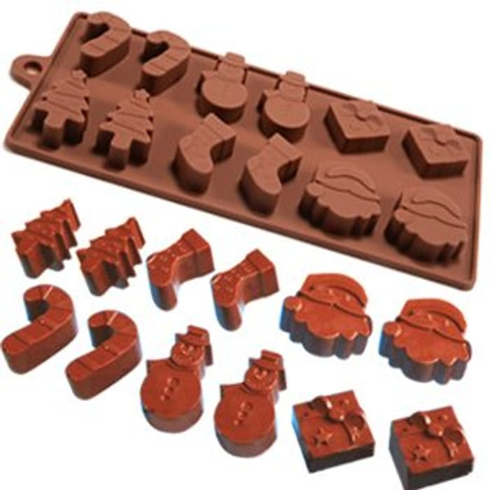 6 Shapes Christmas Chocolate Cake Jelly Ice Silicone Fondant Mold Mould Baking