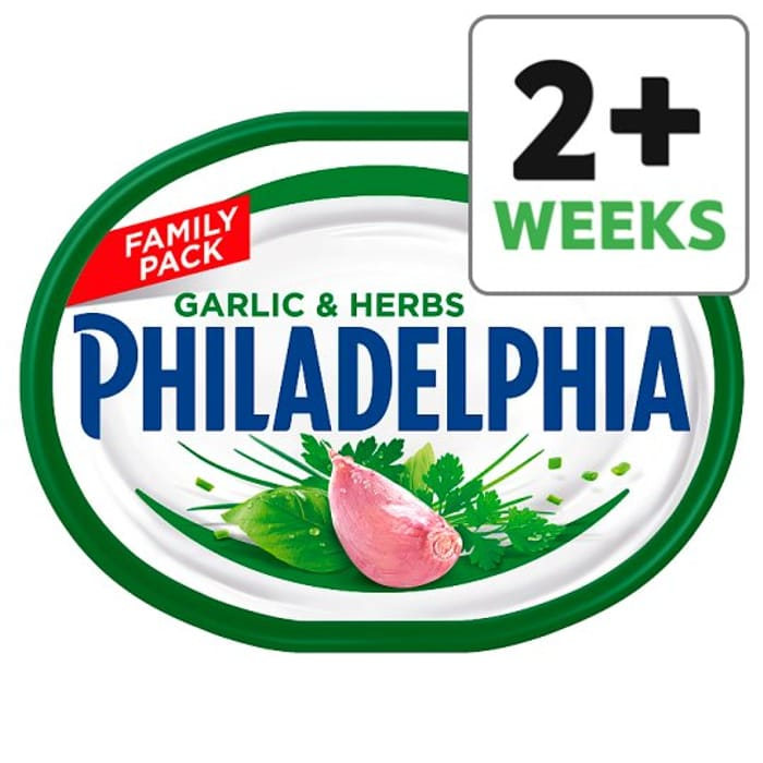 HALF PRICE Philadelphia Soft Cheese with Garlic and Herb 270 G