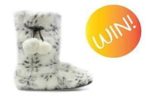 Win Faux Fur Snowflake Slipper Boots