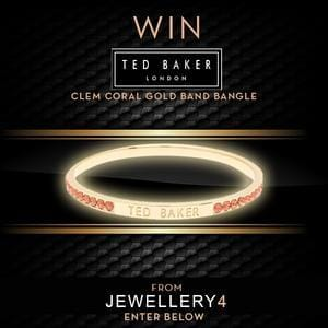 Win a Ted Baker Clem Coral Gold Band Bangle